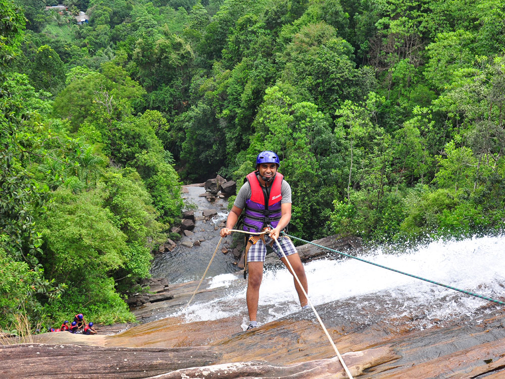 Waterfall Abseiling in Kitulgala Sri Lanka - Waterfall Abseiling in Sri Lanka - Waterfall Abseiling - Kitulgala Abseiling Waterfalls Sri Lanka