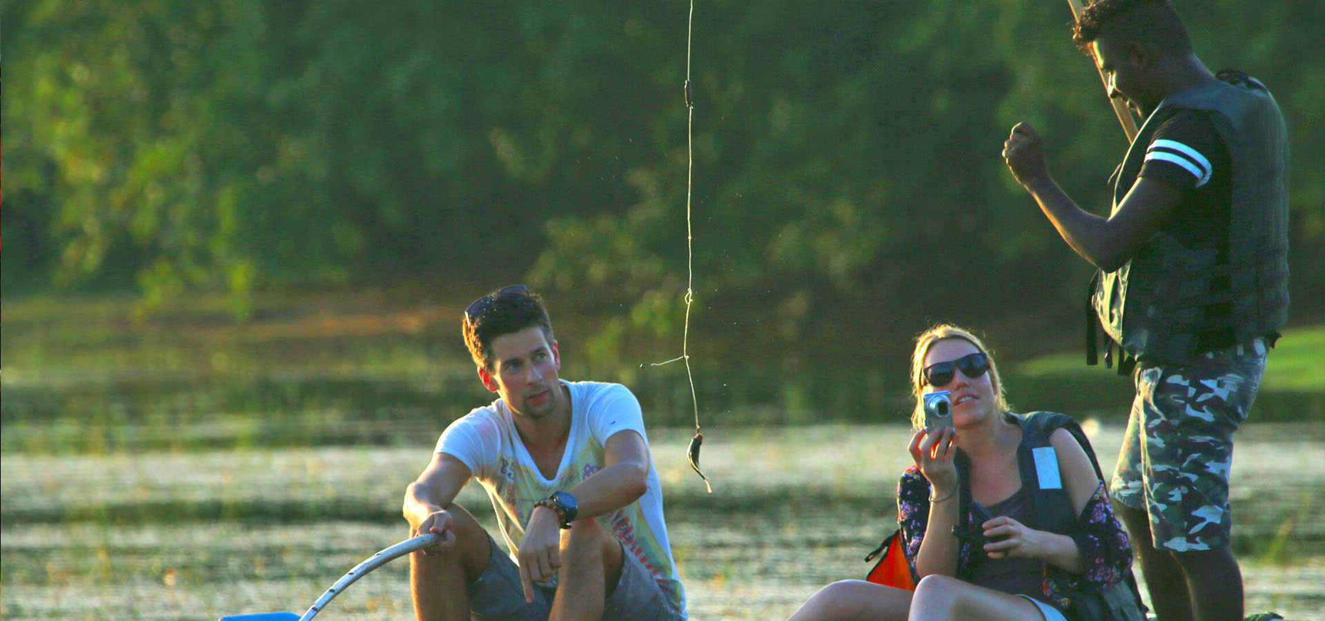 Go fishing with a local fisherman in a lake on a traditional catamaran - Fishing Trips in Sri Lanka - Fishing in Yala - Yala Fishing - Sri Lanka Fishing Trips